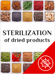 Sterilization of dried products