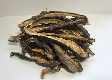 Dried sliced ​​eggplants