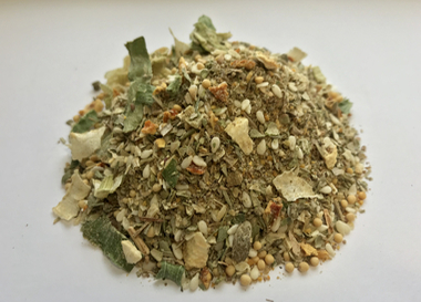 Fish spice mix with salt